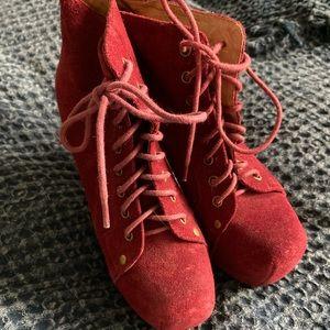Jeffery Campbell LITA Bordeaux suede heels